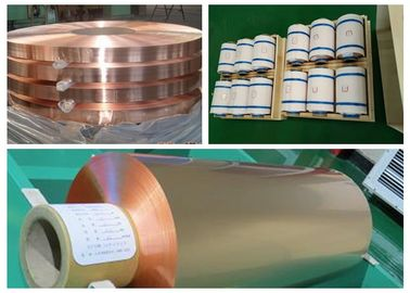 China Color Uniformity Copper Flashing Rolls , ISO RA Annealed Soft Copper Foil supplier