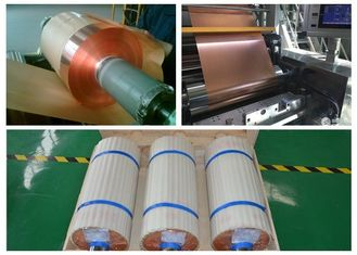 China SGS Soft Annealed Rolled Copper Foil  For Mylar Tape Color Uniformity supplier