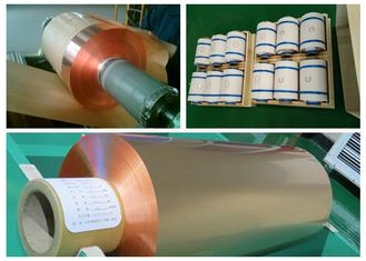 China 35um FCCL Copper Sheet Roll , 1oz Thickness 300mm Width Copper Foil Sheet supplier