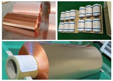 China 10um Lithium Battery Copper Foil Roll , RA Double Shiny Thin Copper Foil supplier