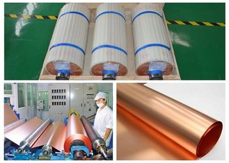 China HD Electrodeposited Copper Foil Roll More Than 5% Elongation 5 - 520mm Width supplier