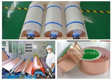 China Red Matte Treated Electrolytic Copper Foil 5 - 1380 Mm Width 99.95% Purity supplier