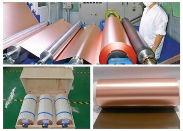 China 1 / 2 OZ High Elongation Copper Foil Sheet Roll , Red / Black Thin Copper Foil supplier