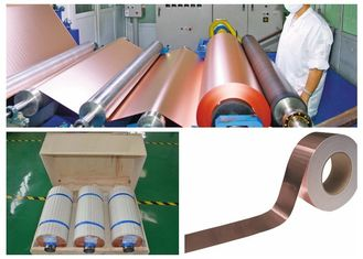 China 76mm / 152mm ID PCB Copper Foil 500 - 5000 Meter Roll Length High Peel Strength supplier