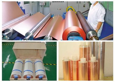China 2 OZ Gray Copper Foil Roll , More Than 160 MPa Tensile Strength PCB Copper Clad supplier