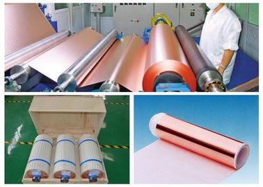 China 0.009mm High Ductility Hte Copper Foil , None Pinholes Copper Foil Tape supplier