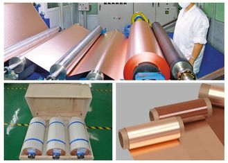 China Electrodeposited Thin Copper Foil Double Shiny Good Oxidation Resistance supplier