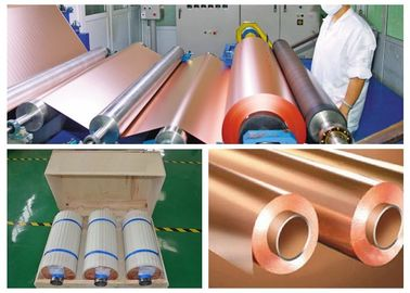 China CCL Copper Sheet Metal Roll For CCL Copper Clad Laminate Red Color supplier