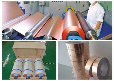 China IPC - 4562 Rolled Annealed Copper Foil , 0.025um Roughness RTF Copper Foil supplier