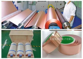 China Thin Copper Foil Excellent Uniformity / Infiltration 500 - 5000m Length supplier