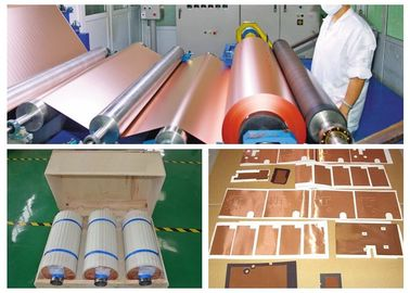 China Matt Treated Red Thin Copper Foil Low Profile Good Folding Endurance supplier