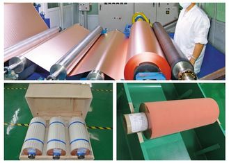 China 500 - 5000 Meter 18um Copper Roll , High Ductility Adhesive Copper Foil Sheet supplier