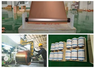 6um Thickness Copper Foil 540mm Width  for phone , Double Shiny Pure Copper Sheet Roll