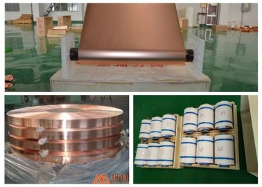 China 7 Micron Ultra Thin Copper Foil Roll 100 - 620mm Width Double Shiny Side supplier