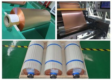 China 99.95% Purity Soft Copper Foil Roll / Strip Double Sided Light SGS Approval supplier