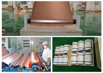 China ED Copper Shielding Foil Roll 150kg - 600kg Roll Weight Good Etch Ability supplier