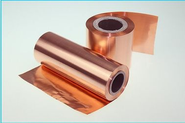 China Red 12um Thin Lithium Ion Battery Copper Foil , RoHS Approval Copper Metal Sheets supplier