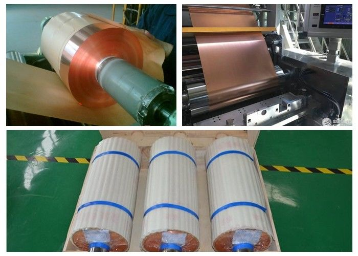 SGS Soft Annealed Rolled Copper Foil For Mylar Tape Color