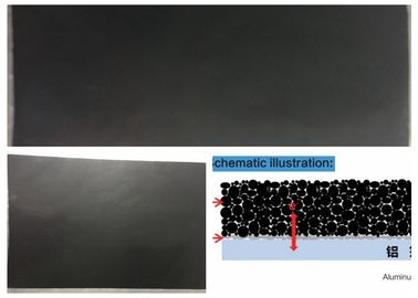 Super Capacitor Aluminium Foil Conductivity Black Carbon Coating Surface