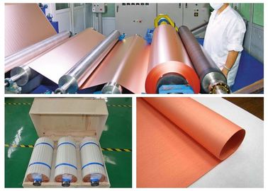 Rolled Copper Foil For Conductive Tape , Custom Inner Diameter Copper Foil Sheet Roll