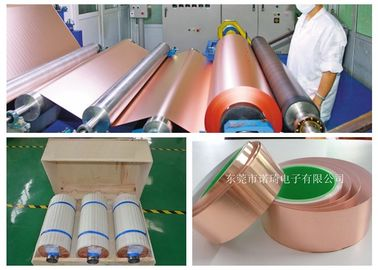 China Thin Copper Foil Excellent Uniformity / Infiltration 500 - 5000m Length factory