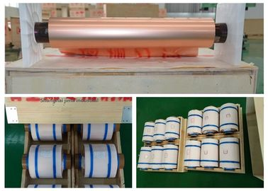 China Electrolytic Thin Copper Foil High Ductility 500 - 5000 Meter Length Per Roll factory