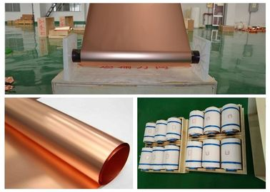 Refined Ultra Thin Copper Sheet, Max 620mm Width BatteryCopper Sheet Roll