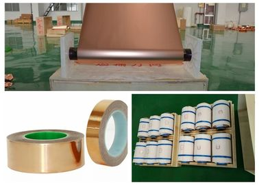 SGS Red Electrodeposited Copper Foil , 99.95% Purity Copper Shielding Tape