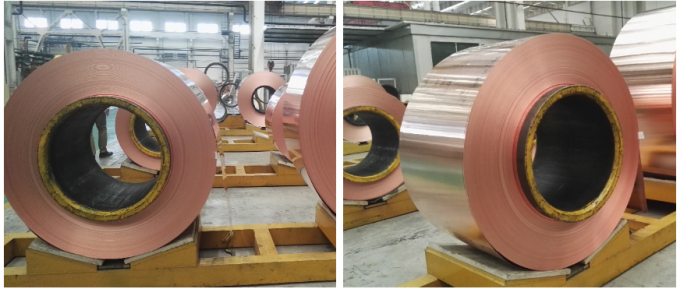 RoHS Soft Copper Sheet Roll , 100 - 5000kg / Roll Copper Foil Sheet Roll