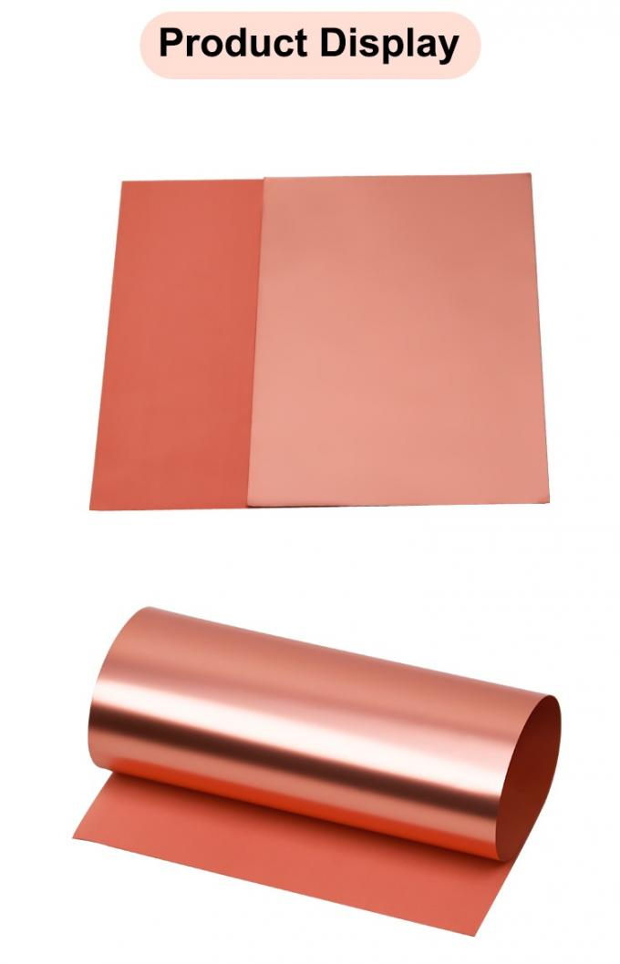 Double Side Shiny Lithium Ion Battery Copper Foil Thick For Capacitor / Notebook PC